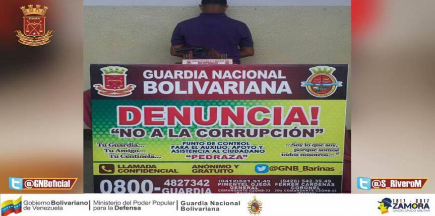 GNB Barinas recuperó dos vehículos y capturó a ciudadano solicitado