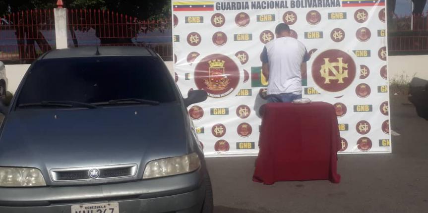 GNB capturó a un ciudadano con droga en la población de San Félix estado Bolívar
