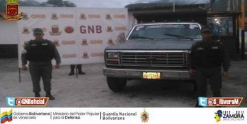 GNB retuvo vehículo  con seriales de carrocería suplantados