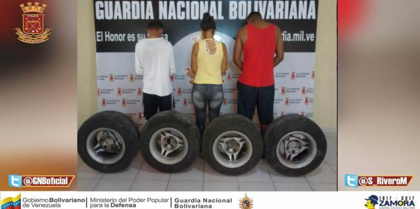 GNB desmanteló banda dedicada al robo de vehículo en Punto Fijo