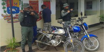 GNB desmanteló dos bandas delictivas durante el fin de semana en el estado Cojedes