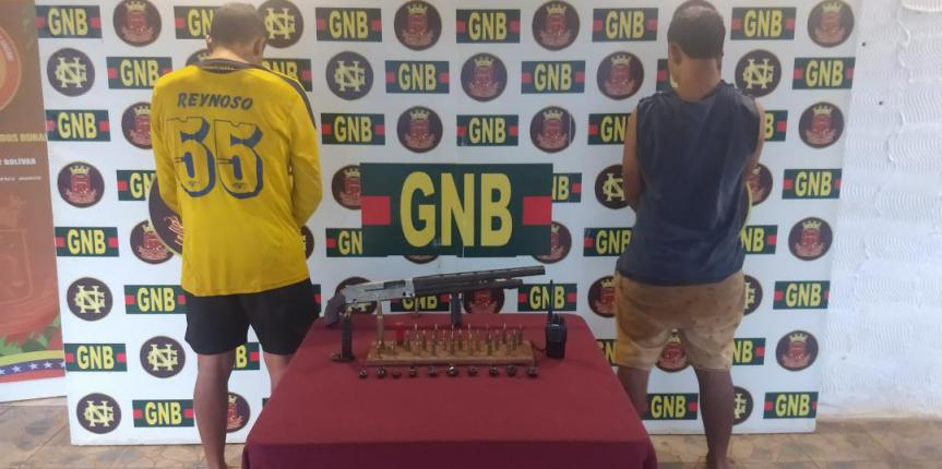 "GNB capturó a dos integrantes del GEDO ""El Perú"" en el estado Bolívar"