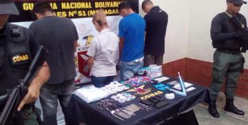 GAES Monagas desmantela banda dedicada al hurto y extorsión