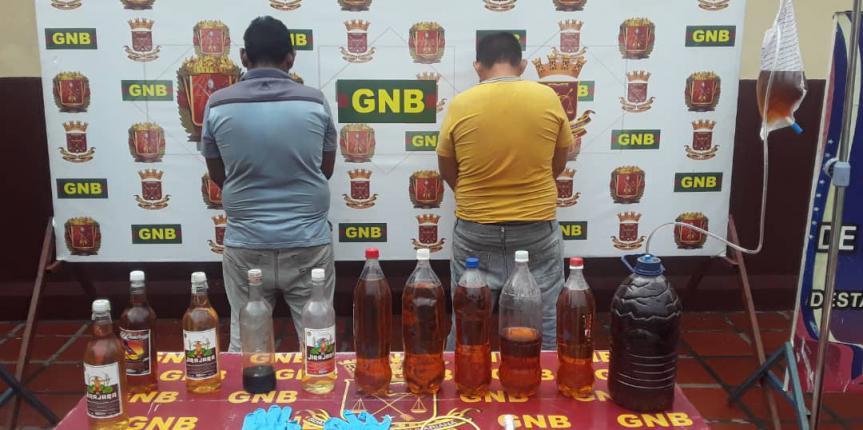 Durante operativo nocturno GNB Zulia desmantela laboratorio donde se elaboraban licores adulterados