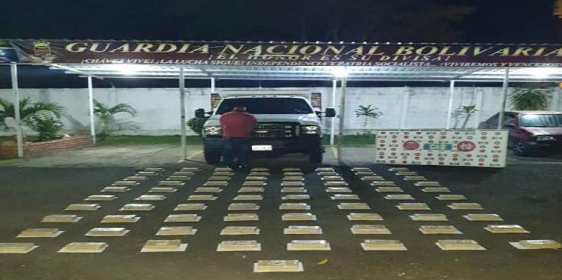 GNB incauto más de 200 kilogramos de cocaína en la tendida y la fría del estado Táchira