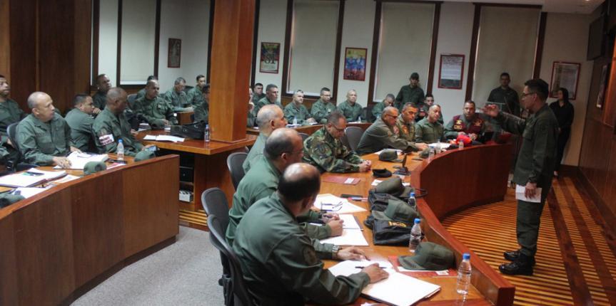 Comandante General M/G Fabio Zavarse Pabón se reúne con los comandantes de zona y grandes unidades de la GNB