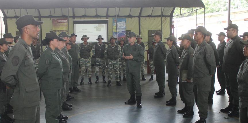 GNB y Milicia Nacional Bolivariana  en conjunto para el resguardo de  nuestra Patria
