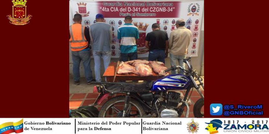 D341 desmanteló banda dedicada al robo de ganado en Guárico
