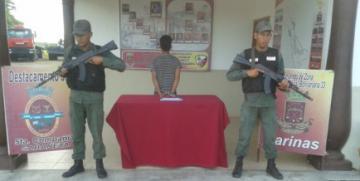 GNB captura a ciudadano portando ilegalmente un arma de fuego en el estado Barinas