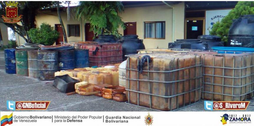 GNB desmanteló dos depósitos clandestinos de gasolina y gasoil en el estado Táchira