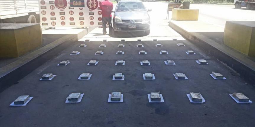 Más de 45 kilos de estupefacientes incautó la GNB en Táchira