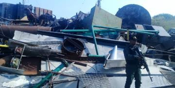 Comando de vigilancia costera retiene 20 toneladas de material estratégico en la costa oriental del lago estado Zulia