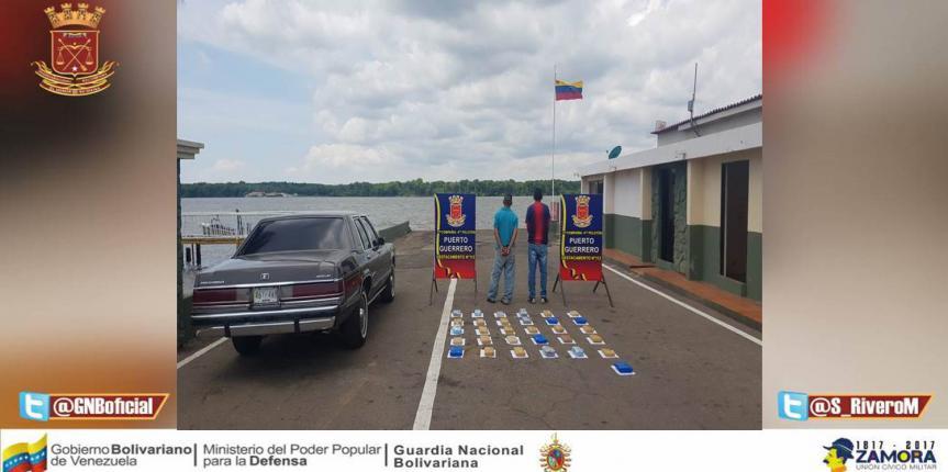 GNB incautó 31 panelas de marihuana en el peaje de la Guajira Venezolana