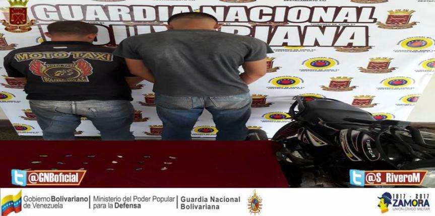 GNB Sucre capturó a dos ciudadanos en distintos procedimientos