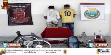 GNB Barinas desarticuló banda criminal dedica al  microtráfico