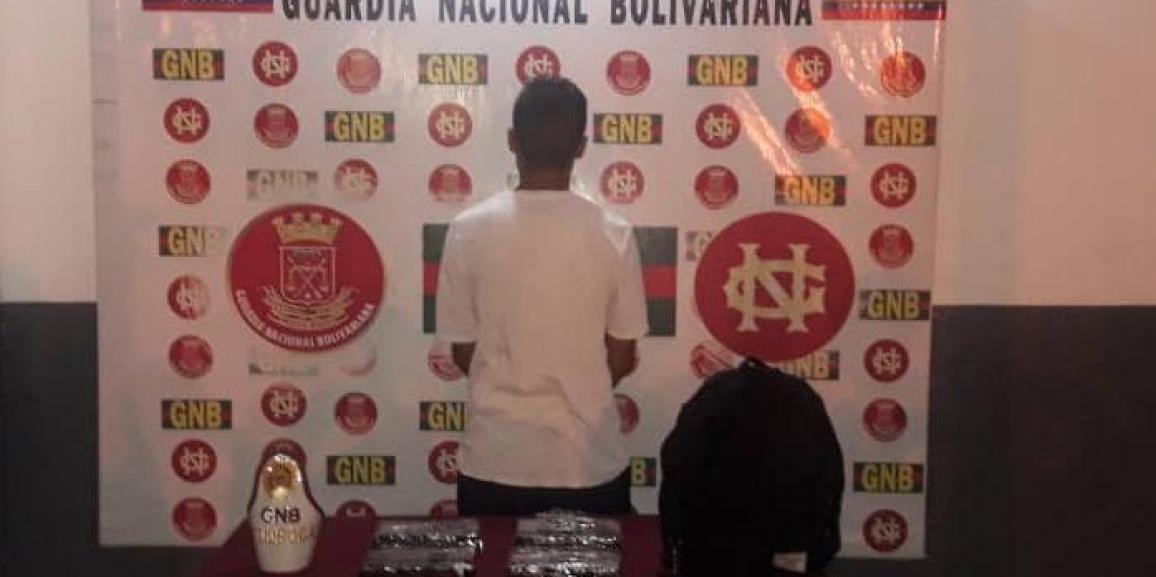 GNB Táchira capturó a un ciudadano con cuatro envoltorios de Cocaína