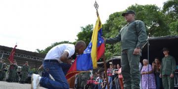 """Aspirantes a GNB en Guárico participaron en la """"Reverencia a la Bandera"""""""