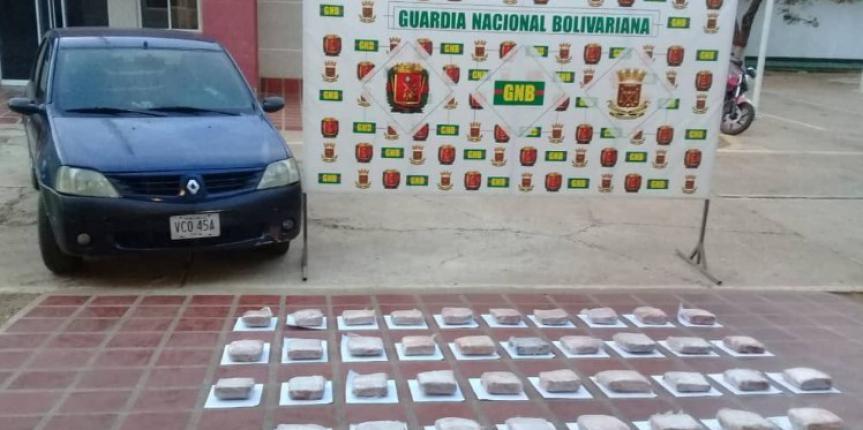 GNB Falcón incautó 38 panelas de marihuana