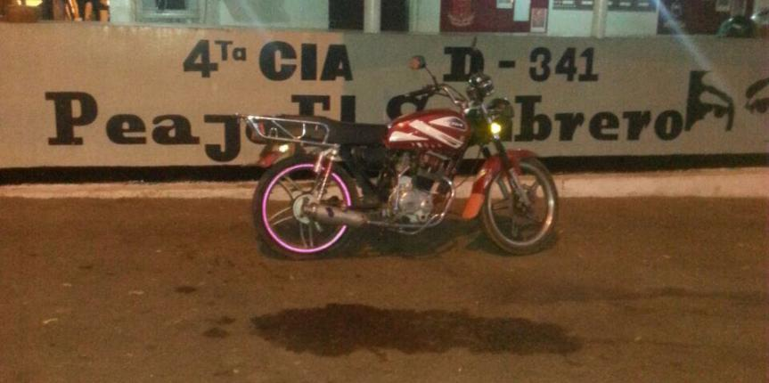 GNB retuvo moto por circular con motor de dudosa procedencia