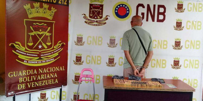 GNB Táchira detuvo a sexagenario con municiones