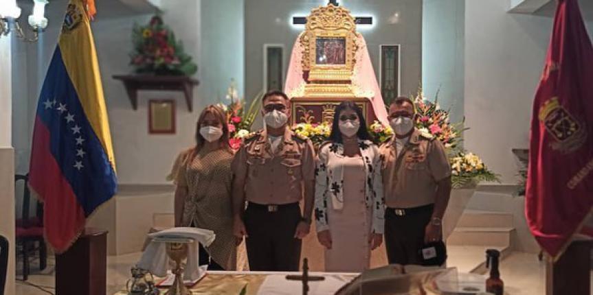 GNB rinde honor a la Virgen del Rosario de Chiquinquirá
