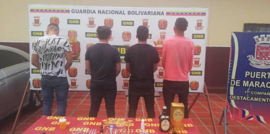 GNB Zulia desmantela banda en centro nocturno de Maracaibo por venta y distribución de drogas