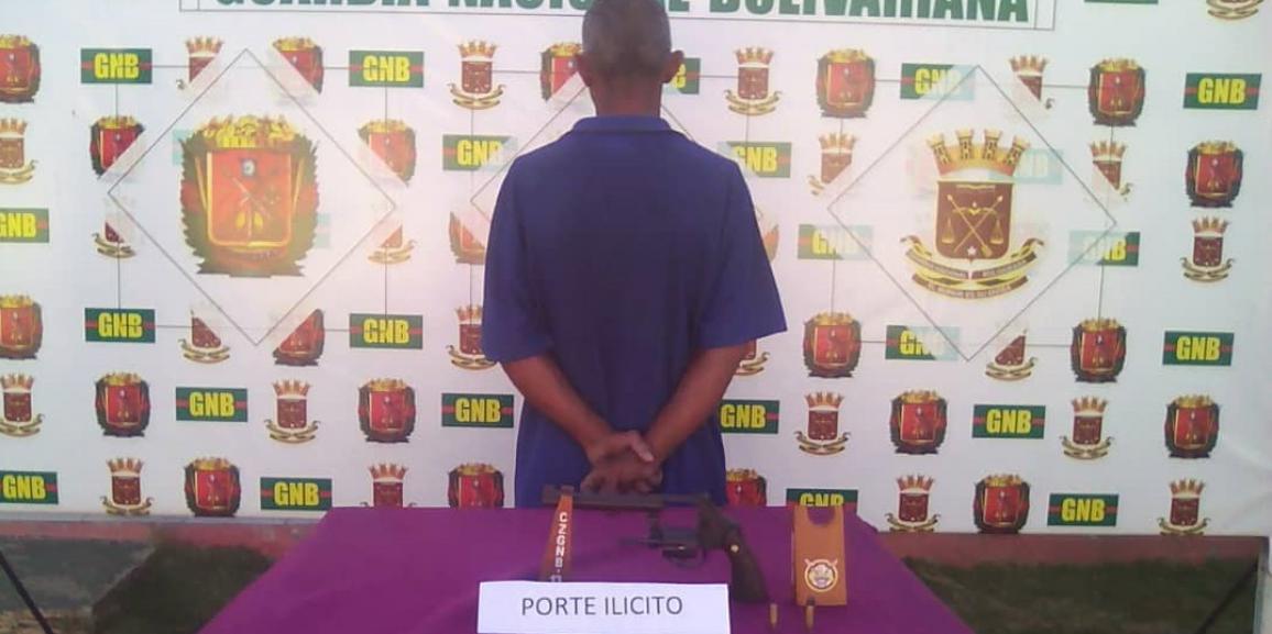 GNB Falcón detuvo a un ciudadano por porte ilícito de arma de fuego