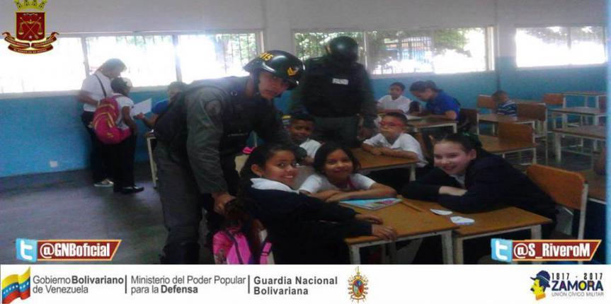 """GNB inició Plan el """"Guardia va a la Escuela"""" en jurisdicciones de la Faja Petrolífera del Orinoco"""