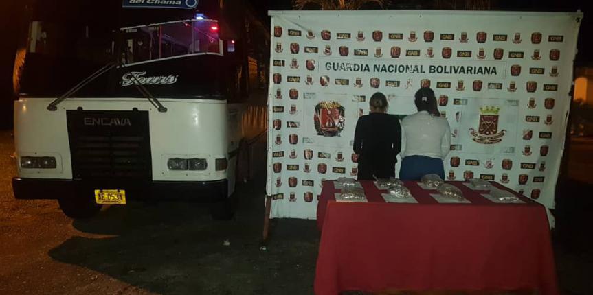 GNB detuvo a dos ciudadanas con droga en el estado Mérida