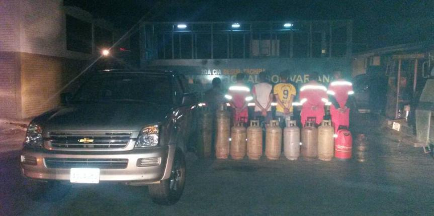 Desur Táchira desmanteló banda que se dedicaba a sustraer cilindros de gas de la plata de llenado