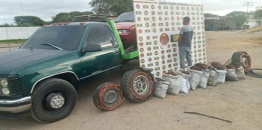 Capturado ciudadano con un arma de fuego, 1.500 kilos de cobre y 100 gramos de Marihuana en Anzoátegui