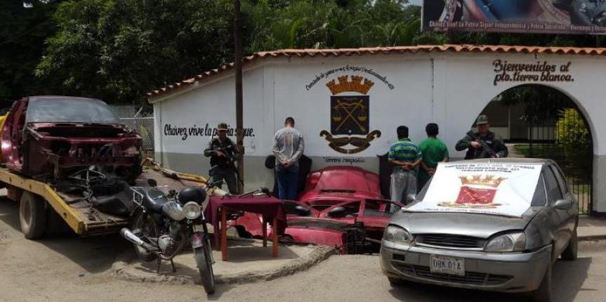 """GNB Aragua desmantela banda """"Los Picadores"""" dedicada al robo y picadero de vehículos"""