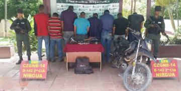 GNB detiene a 12 sujetos en Nirgua, estado Yaracuy