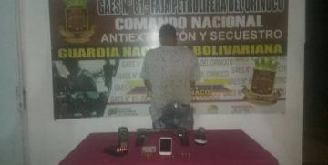 GAES 81 capturó a ciudadano por ocultamiento de armas de fuego y material de guerra en Cantaura