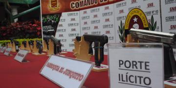 GNB incautó 13 armas durante la última semana en Caracas
