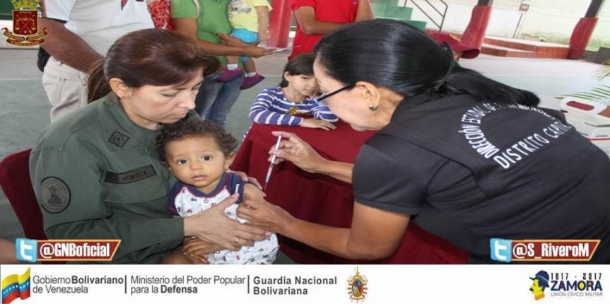 I Jornada de Vacunación realizó el Comité de Acción Social de la GNB y la Policlínica Cabisoguarnac