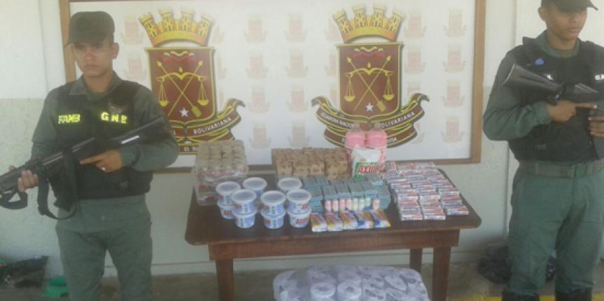 GNB incauta mercancía a bachaquero en el estado Guárico