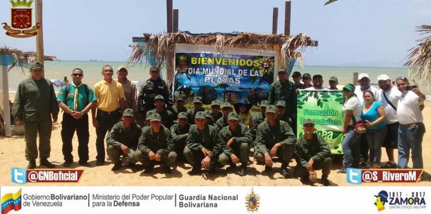 GNB realizó jornada de limpieza en Playa Pepe