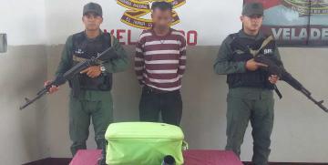 GNB Monagas captura a ciudadano con 12 envoltorios de droga