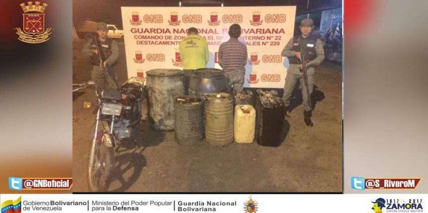 """GNB desmanteló banda """"Los Express"""" dedicados al contrabando de gasolina"""