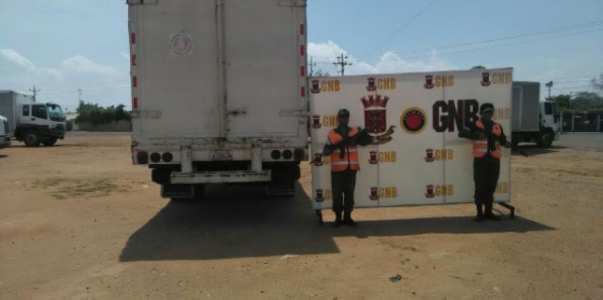 GNB decomisó 70 toneladas de alimentos y 68 mil litros de jugos en el estado Zulia