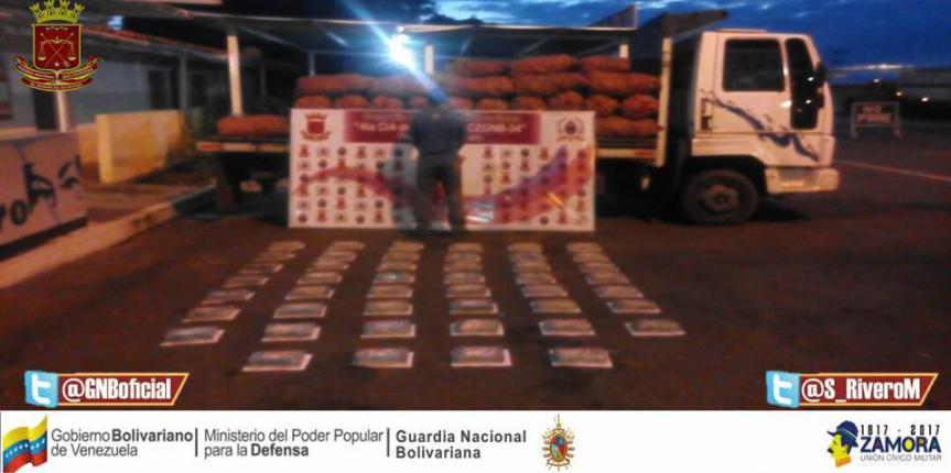 Golpe duro al Narcotráfico GNB Guárico incautó más de 50 kilos de Cocaína