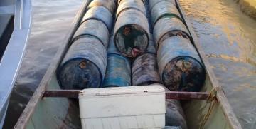 Comando de Vigilancia Costera recupera 4.400 litros de combustible en el estado Delta Amacuro