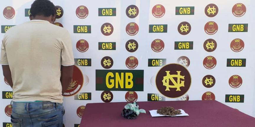 GNB aprehendió a ciudadano con droga en la población de Tumeremo estado Bolívar