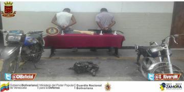 GNB incautó cuatro armas y detuvo cinco ciudadanos en el norte de Anzoátegui