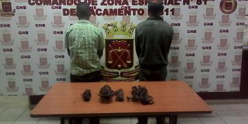 GNB capturó a dos ciudadanos con material estratégico hurtado en la Faja Petrolífera del Orinoco