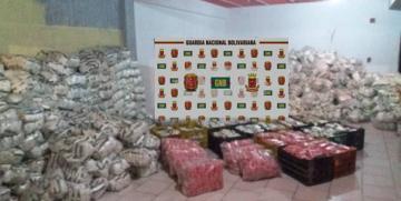 GNB Falcón retuvo 17 toneladas de azúcar y 320 kilogramos de arroz en Punto Fijo