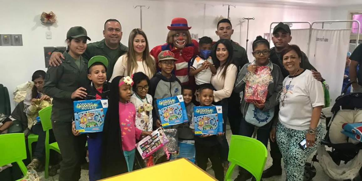 Cuartel General de la GNB brindó alegría a los niños y niñas del Hospital J. M. de los Ríos