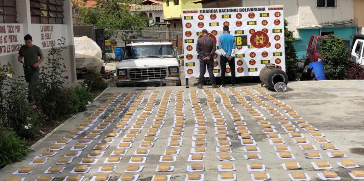 GNB incautó 280  panelas de marihuana en punto de control del estado Mérida