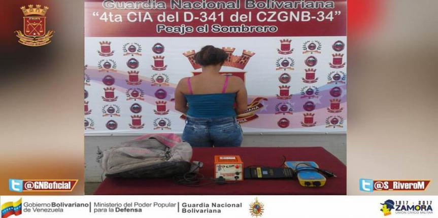 Capturada ciudadana con objetos hurtados en Guárico